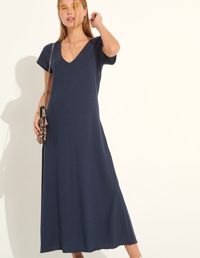 Blue Maxi Dress New York Style