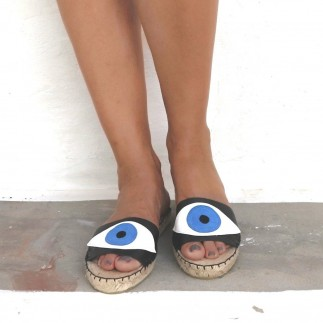 EVIL EYE SLIDES - BLACK